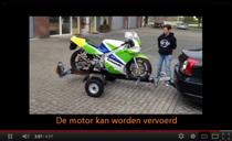 Filmpje op YouTube van de MotoLug motor trailer